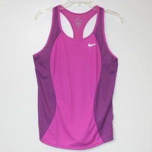 Nike Dri-Fit Workout Racer-back Tank Orchid sz M